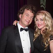 NLD/Hilversum/20131208 - Miss Nederland finale 2013, Brigitte Nijman en partner Robert Veuger