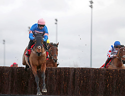 Cyrname ridden by Sean Bowen wins the 32Red.com Wayward Lad Novices' Steeple Chase during day two of the 32Red Winter Festival at Kempton Park, Sunbury on Thames. PRESS ASSOCIATION Photo. Picture date: Wednesday December 27, 2017. See PA story RACING Kempton. Photo credit should read: Adam Davy/PA Wire.