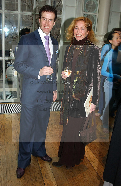 Choreographer ANTON du BEKE and dancer BRYONY BRIND at The Critic's Circle National Dance Awards 2005 held at The Royal Opera House, Covent Garden on 19th January 2006.<br /><br />NON EXCLUSIVE - WORLD RIGHTS