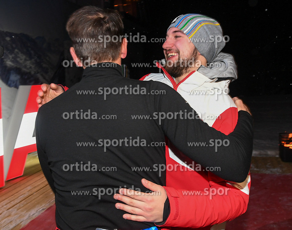 11.02.2018, Austria House, Pyeongchang, KOR, PyeongChang 2018, Medaillenfeier, im Bild David Gleirscher und Markus Prock // during the Celebration of the gold medal of the Men's Luge Singles competition of the Pyeongchang 2018 Winter Olympic Games at the Austria House in Pyeongchang, South Korea on 2018/02/11. EXPA Pictures © 2018, PhotoCredit: EXPA/ Erich Spiess