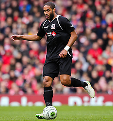 Ashley Williams in action for the Gerrard XI - Photo mandatory by-line: Matt McNulty/JMP - Mobile: 07966 386802 - 29/03/2015 - SPORT - Football - Liverpool - Anfield Stadium - Gerrard's Squad v Carragher's Squad - Liverpool FC All stars Game
