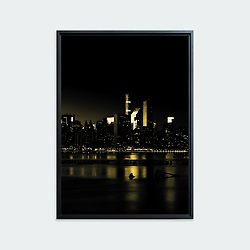 Manhattan and the East River # 01, New York • Original photographic work by Antoine Duhamel • Direct print on brushed brass.