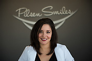Dr. Elisa Ochoa owns and operates Pilsen Smiles on 18th St. in Chicago's Pilsen neighborhood. ©2018 Brian J. Morowczynski ViaPhotos