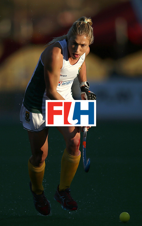 JOHANNESBURG, SOUTH AFRICA - JULY 16:  Shelley Jones of South Africa controls the ball during day 5 of the FIH Hockey World League Women's Semi Finals Pool B match between South Africa and United States of America at Wits University on July 16, 2017 in Johannesburg, South Africa.  (Photo by Jan Kruger/Getty Images for FIH)