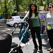 Konnie Huq join Mothers rise up host a Mothers Climate March 2019 in Central London, on 12 May 2019, London, UK