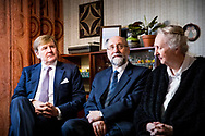 King Willem-Alexander of The Netherlands attends the celebrations of the 50th anniversary  of Lelystad city, The Netherlands, 15 November 2017. LELYSTAD -<br /> LELYSTAD - Koning Willem-Alexander bezoekt een tweedehands kleding winkel in de Zuiderzeewijk. De koning bezoekt Lelystad ter gelegenheid van het 50-jarig bestaan. copyright robin utrecht