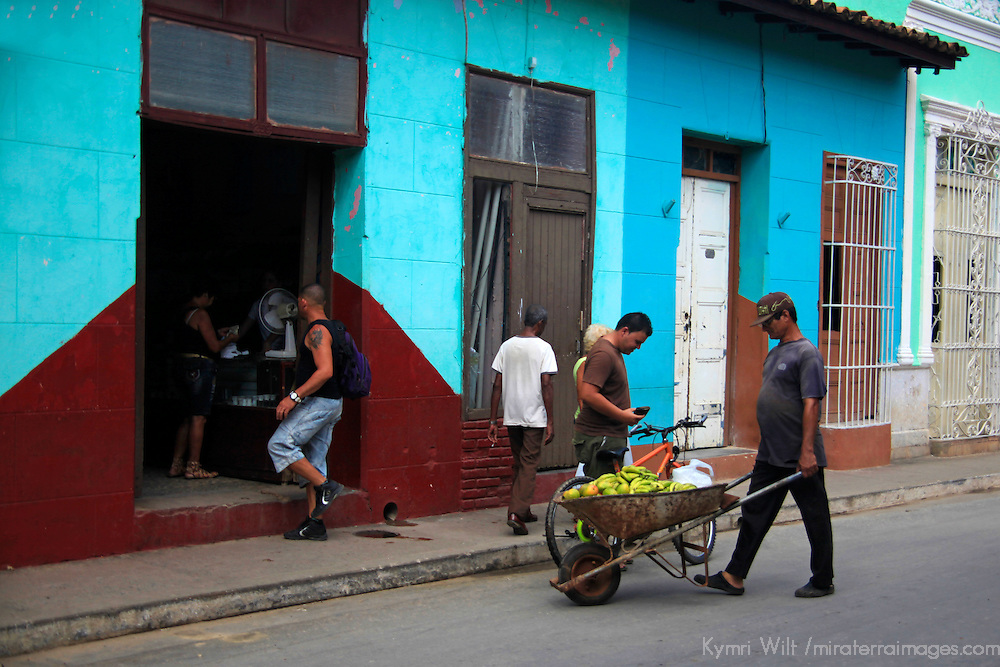 Central America, Cuba, Trinidad. Street scene of Trinidad.