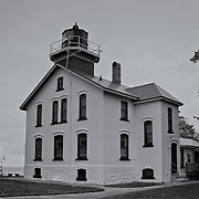 &quot;Grand Traverse Lighthouse&quot; mono<br /> <br /> Wonderful Grand Traverse Lighthouse on Lake Michigan. One of many historic lighthouses in the Traverse City area. <br /> <br /> Lighthouses of the Great Lakes by Rachel Cohen
