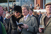 FIONA SANGSTER; GUY SANGSTER, Hennessy Gold Cup, The Racecourse Newbury. 30 November 2013.