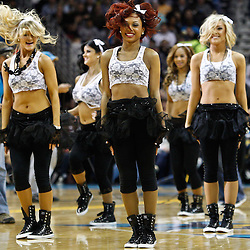 February 5, 2011; New Orleans, LA, USA; New Orleans Hornets Honeybees dancers perform during the second quarter of a game against the Los Angeles Lakers at the New Orleans Arena.   Mandatory Credit: Derick E. Hingle