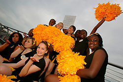 UNITED KINGDOM ENGLAND LONDON 23JUL07 - Southwark Tigers cheerleaders perform their routine on the Millennium Bridge in Southwark, London. They are urging lottery players to check their old Thunderball tickets, as a £ 250000.00 jackpot has yet to be claimed in the Southwark area...jre/Photo by Jiri Rezac..© Jiri Rezac 2007..Contact: +44 (0) 7050 110 417.Mobile:  +44 (0) 7801 337 683.Office:  +44 (0) 20 8968 9635..Email:   jiri@jirirezac.com.Web:    www.jirirezac.com..© All images Jiri Rezac 2007 - All rights reserved.