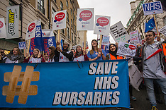 9 Jan 2016 - Nurses & other health workers march against NHS bursary cuts.