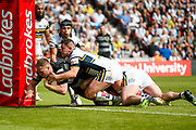 Hull FC prop Scott Taylor (8) goes over and scores a try   during the Challenge Cup 2017 semi final match between Hull RFC and Leeds Rhinos at the Keepmoat Stadium, Doncaster, England on 29 July 2017. Photo by Simon Davies.