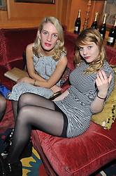 Left to right, ALICE FERNANDEZ and NELL HUDSON at a party to celebrate the publication of Tatler Magazine's Little Black Book 2012 held at Annabel's, Berkeley Square, London on 7th November 2012.