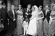 05/05/1962<br /> 05/05/1962<br /> 05 May 1962<br /> Wedding: Tony O'Reilly and Susan M. Cameron at University Church, Dublin. With the Bride and Groom were: Child Attendant, Master James McCarthy, (3 1/2), Bridesmaids Lisa Finlayson, Helen Hayes and Sonia Walsh. Rugby International Jim McCarthy was best man with Ronnie Dawson and Andy Mulligan as Groomsmen.