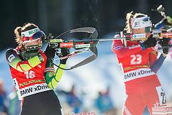 SKARDINO Nadezhda (BLR) competes during Women 12,5 km Mass Start at day 4 of IBU Biathlon World Cup 2014/2015 Pokljuka, on December 21, 2014 in Rudno polje, Pokljuka, Slovenia. Photo by Vid Ponikvar / Sportida