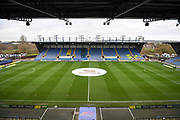 High view of the Kassam Stadium during the EFL Sky Bet League 1 match between Oxford United and Shrewsbury Town at the Kassam Stadium, Oxford, England on 7 December 2019.