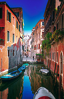 """As reflections abound ... the canal stops in Venice""…<br />
