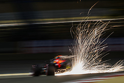 March 30, 2019 - Sakhir, Bahrain - Sparks fly from the #33 Red Bull Racing-Honda RB15 of MAX VERSTAPPEN during qualifying for the Formula One Grand Prix of Bahrain. (Credit Image: © Hoch Zwei via ZUMA Wire)