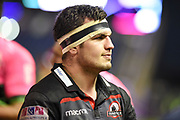 Captain Stuart McInally after 34-33 win in the European Rugby Challenge Cup match between Edinburgh Rugby and Stade Francais at Murrayfield Stadium, Edinburgh, Scotland on 12 January 2018. Photo by Kevin Murray.