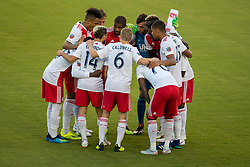August 4, 2018 - Orlando, FL, U.S. - ORLANDO, FL - AUGUST 04: New England players huddle during the soccer match between the Orlando City Lions and the New England Revolution on August 4, 2018 at Orlando City Stadium in Orlando FL. (Photo by Joe Petro/Icon Sportswire) (Credit Image: © Joe Petro/Icon SMI via ZUMA Press)