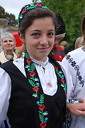 Romania, Folk dancers in national costumes
