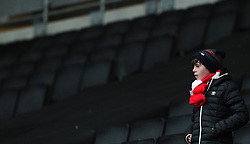 A Bristol City fan arrives early   - Photo mandatory by-line: Joe Meredith/JMP - Mobile: 07966 386802 - 07/02/2015 - SPORT - Football - Milton Keynes - Stadium MK - MK Dons v Bristol City - Sky Bet League One