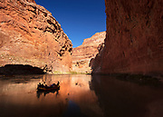 A peaceful moment floating the Colorado River in Marble Canyon. Grand Canyon National Park in Arizona.
