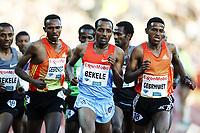 Friidrett , 7. juni 2012 , Diamond League Bislett Games , <br /> Kenenisa Bekele , Hagos Gebrhiwet , Dejen Gebremeskel ,  5000 m