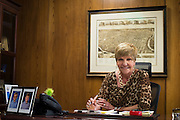 Fort Worth Mayor Betsy Price poses for a photo in her office at City Hall in Fort Worth, Texas on February 12, 2015.