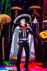 "ANAHEIM, CA - JULY 18: Mexican super star Pedro Fernandez kept his fans singing and dancing at the beat of his classic songs: ""Yo no Fui"", ""La Mochila Azul""  during his concert at M3 Live on July 18, 2015 in Anaheim, California. Byline, credit, TV usage, web usage or linkback must read SILVEXPHOTO.COM. Failure to byline correctly will incur double the agreed fee. Tel: +1 714 504 6870."