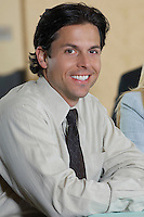 Portrait of mid adult businessman smiling