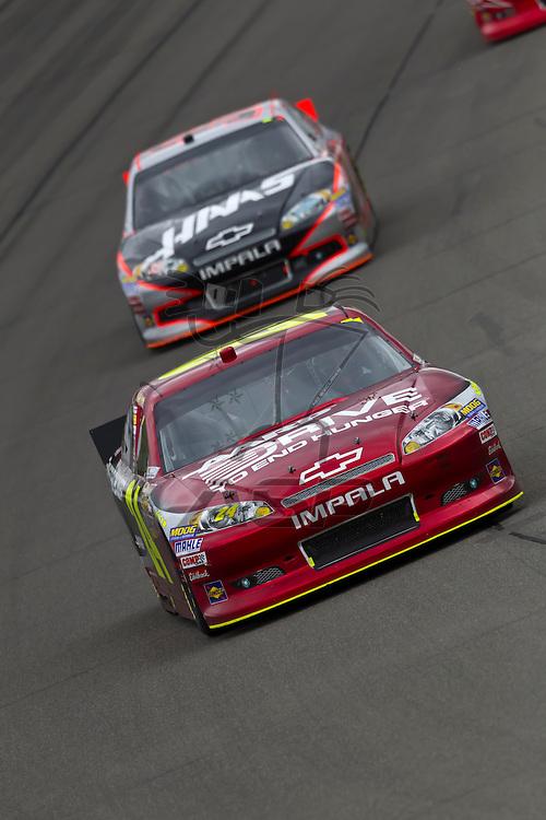 KANSAS CITY, KS - APR 22, 2012:  Jeff Gordon (24) races during the STP 400 at the Kansas Speedway in Kansas City, KS.
