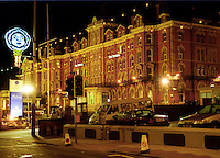 Imperial Hotel, Blackpool, England, UK, October, 1999, nightime image,  1999100265<br /> <br /> Copyright Image from Victor Patterson,<br /> 54 Dorchester Park, Belfast, UK, BT9 6RJ<br /> <br /> t1: +44 28 90661296<br /> t2: +44 28 90022446<br /> m: +44 7802 353836<br /> <br /> e1: victorpatterson@me.com<br /> e2: victorpatterson@gmail.com<br /> <br /> For my Terms and Conditions of Use go to<br /> www.victorpatterson.com