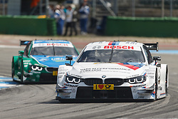 04.05.2014, Hockenheimring, Hockenheim, GER, DTM, 1. Lauf, Hockenheimring, Rennen, im Bild Martin Tomczyk (BMW M4 DTM) vor Augusto Farfus (BMW M4 DTM) // during the 1th run of DTM at the Hockenheimring in Hockenheim, Germany on 2014/05/06. EXPA Pictures © 2014, PhotoCredit: EXPA/ Eibner-Pressefoto/ Neis<br /> <br /> *****ATTENTION - OUT of GER*****