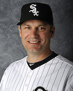 GLENDALE, AZ - MARCH 03: Manager Robin Ventura of the Chicago White Sox poses for his official team headshot during photo day on March 3, 2012 at The Ballpark at Camelback Ranch in Glendale, Arizona. (Photo by Ron Vesely)   Subject:   Robin Ventura