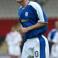 Michael Moore, St Johnstone...07.08.04<br /><br />Picture by Graeme Hart.<br />Copyright Perthshire Picture Agency<br />Tel: 01738 623350  Mobile: 07990 594431