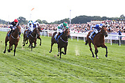 WELL DONE FOX (2) ridden by Jim Crowley and trained by Richard Hannon winning The Listed Julia Graves Roses Stakes over 5f (£70,000)  during the Sky Bet Ebor event at York Racecourse, York, United Kingdom on 25 August 2018. Picture by Mick Atkins.