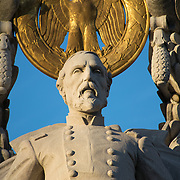 The Meade Memorial on Pennsylvania Avenue, Washington DC, is dedicated to Major General George Gordon Meade, a career military officer from Pennsylvania who is best known for defeating General Robert E. Lee at the Battle of Gettysburg.