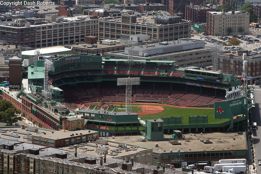 Fenway Park, home of the Red Sox, located in the Back Bay area of Boston, Ma.  Fenway has been home to baseball in Boston since 1912.