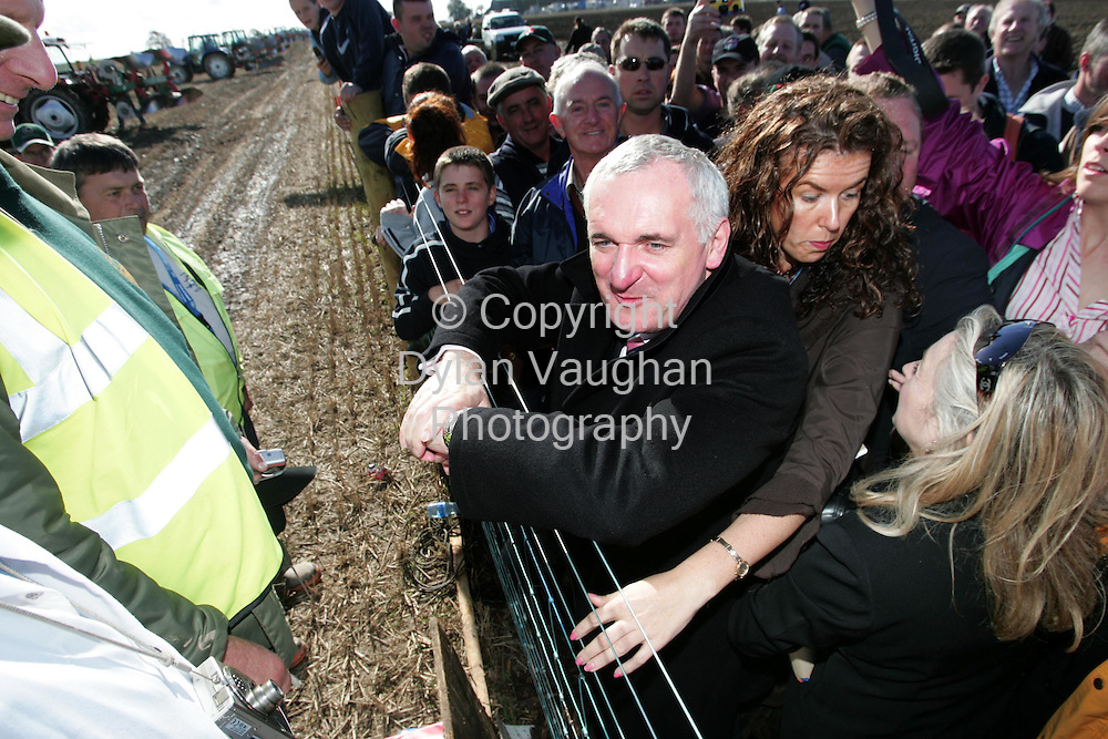 29/9/2006.The Taoiseach Bertie Aherne pictured at the World Ploughing Championships in Carlow yesterday ..Picture Dylan Vaughan.