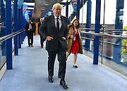 © Licensed to London News Pictures. 09/10/2012. Birmingham, UK TLord Mayor of London, Boris Johnson, makes his way to the stage at The Conservative Party Conference at the ICC today 9th October 2012. Photo credit : Stephen Simpson/LNP