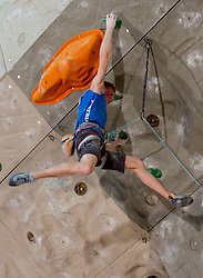 Third placed  Jakob Schubert of Austria during Final IFSC World Cup Competition in sport climbing Kranj 2010, on November 14, 2010 in Arena Zlato polje, Kranj, Slovenia. (Photo By Vid Ponikvar / Sportida.com)