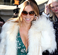 Mariah Carey leaving her hotel in London