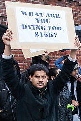 "© Licensed to London News Pictures . London , UK . Siddhartha Dhar (C holding a sign that reads "" What are you dying for , £15k ? "") at a Muslims Against Crusades demonstration on Exhibition Road in London on the anniversary of Armistice Day in London , on November 11, 2010. There has been speculation that Siddhartha Dhar is this the new 'Jihadi John', who appeared in a recent ISIS video. . Photo credit : Joel Goodman/LNP"