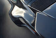 Automotive Car Photographer and Videographer Randy Wells, Image of a detail of the black real quarter wing, California, Porsche 911 RSR, property released