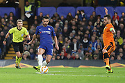 Pedro of Chelsea (11) passing the ball to Olivier Giroud of Chelsea (18) to score during the Champions League group stage match between Chelsea and PAOK Salonica at Stamford Bridge, London, England on 29 November 2018.