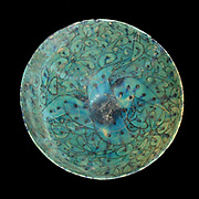 Decorative bowl, example of 13th century Islamic pottery from Iran