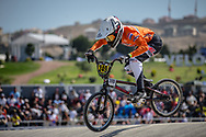 16 Boys #249 (VAN DOREN Stef) NED at the 2018 UCI BMX World Championships in Baku, Azerbaijan.