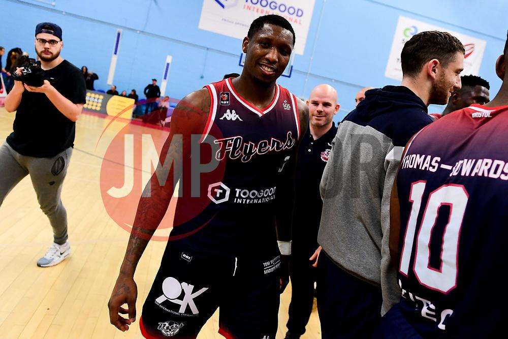 Fred Thomas of Bristol Flyers - Photo mandatory by-line: Ryan Hiscott/JMP - 15/11/2019 - BASKETBALL - SGS Wise Arena - Bristol, England - Bristol Flyers v London City Royals - British Basketball League Cup